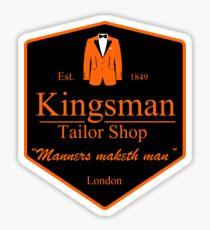 Gentleman's taylor shop Sticker