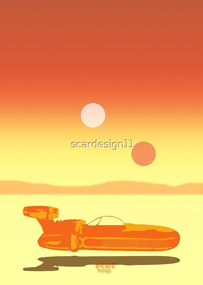 Landspeeder Poster by scardesign11
