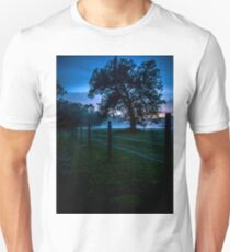 Foggy Evening in Vermont - Portrait T-Shirt
