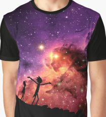 Rick And Morty Walking Through The Universe Graphic T-Shirt