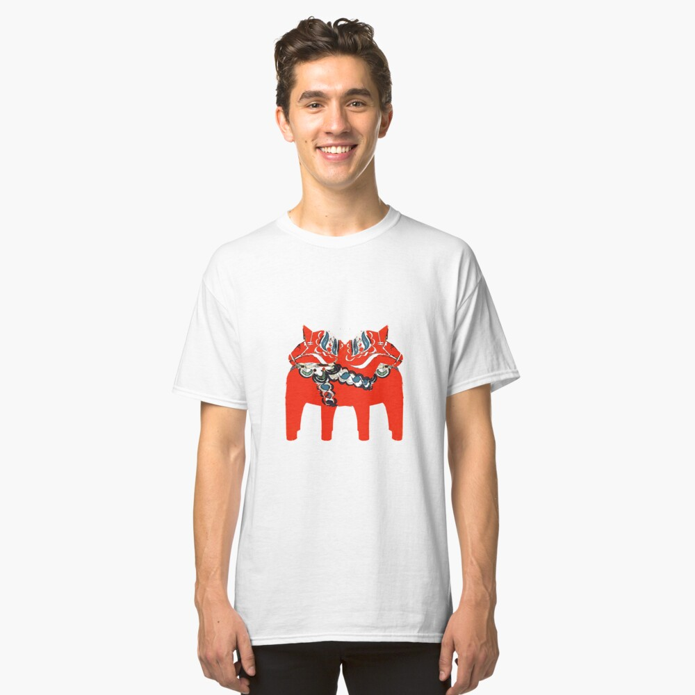 Schwedische Dala Pferdegeschenke und -kleid Classic T-Shirt