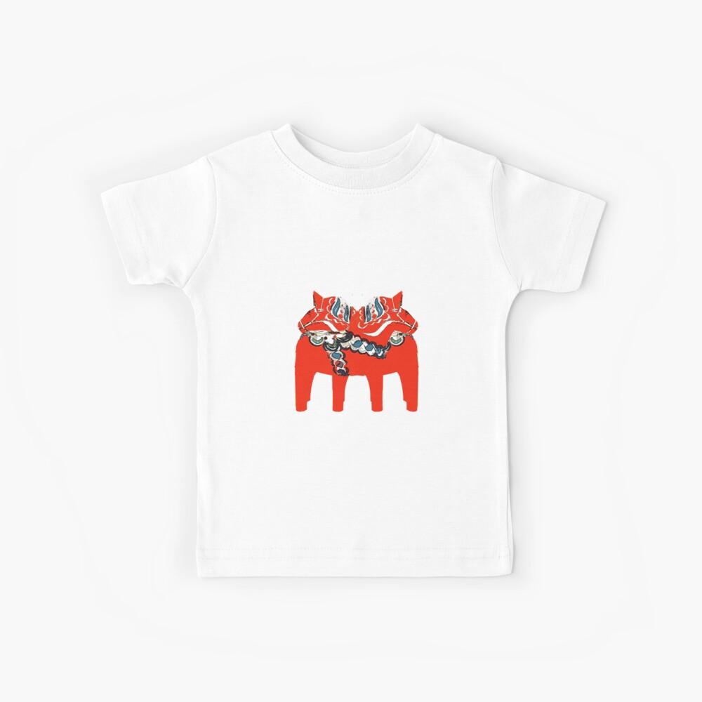 Schwedische Dala Pferdegeschenke und -kleid Kinder T-Shirt