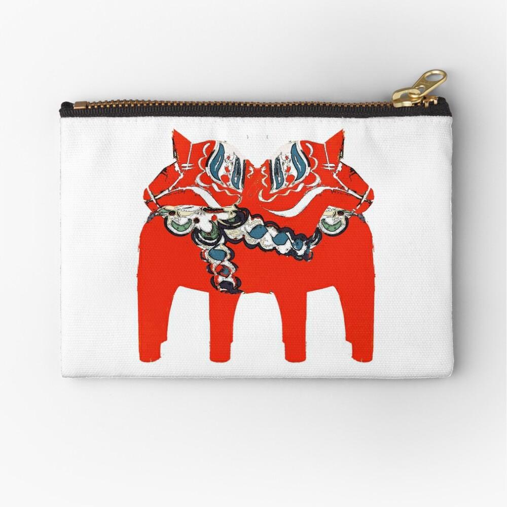 Schwedische Dala Pferdegeschenke und -kleid Täschchen