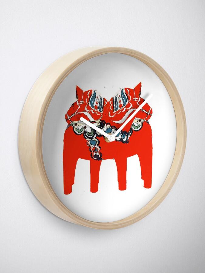 Alternative Ansicht von Schwedische Dala Pferdegeschenke und -kleid Uhr