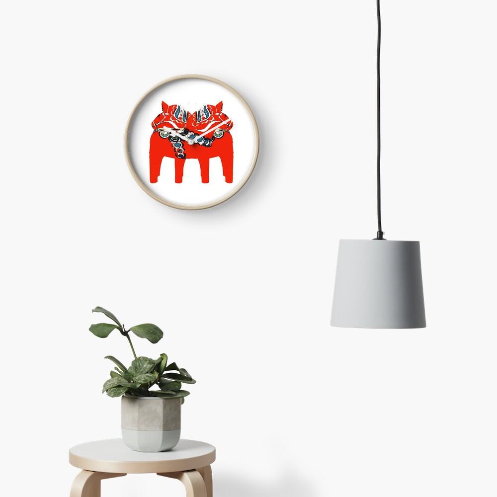 Schwedische Dala Pferdegeschenke und -kleid Uhr