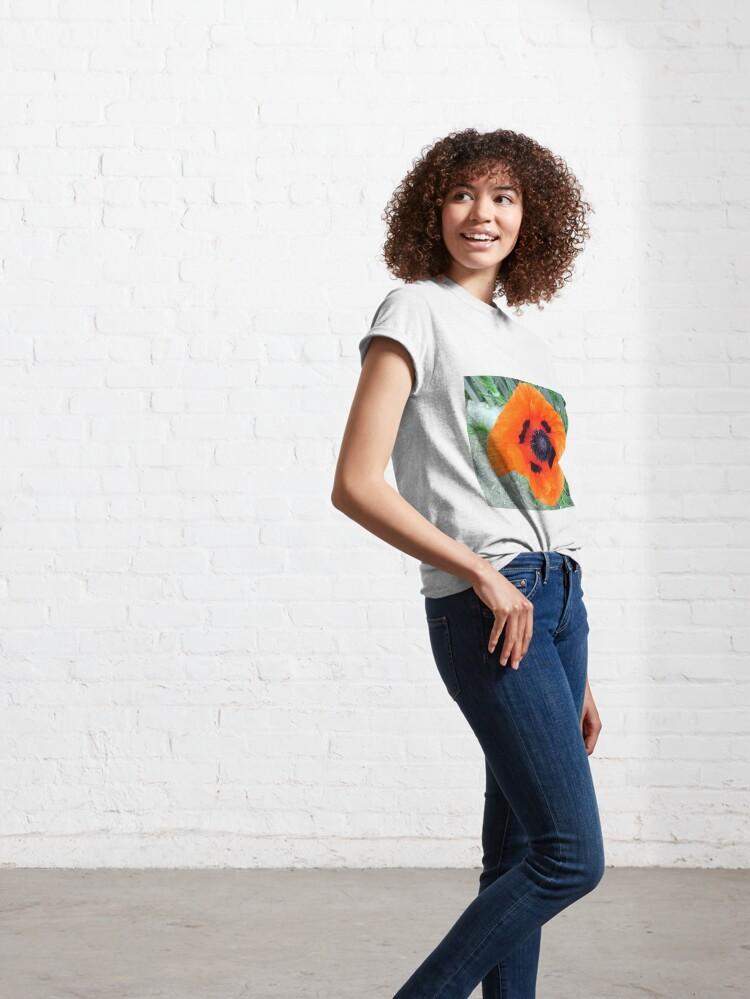 Alternative Ansicht von Große Mohn-Blüte Classic T-Shirt
