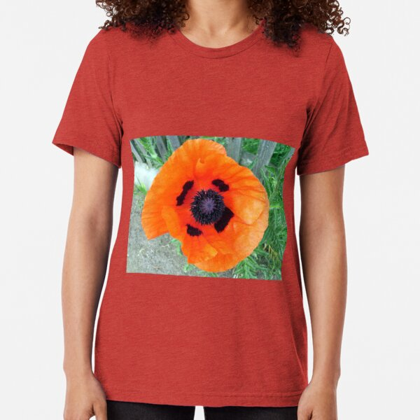 Große Mohn-Blüte Vintage T-Shirt