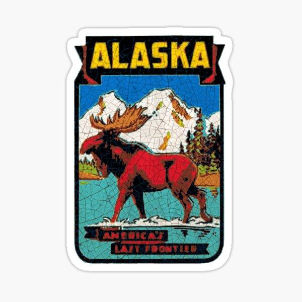 Alaska the Last Frontier USA  Moose Sticker