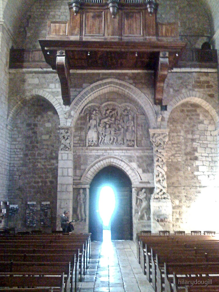 Romaneque church complete with spirit by hilarydougill