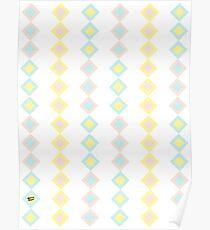 Pastel Square #kirovair #design #minimal #abstract #buyart #home #decor Poster