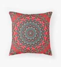 Mandala Christmas Pug Throw Pillow