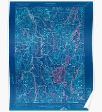 Maine USGS Historical Map Livermore 807555 1912 62500 Inversion Poster