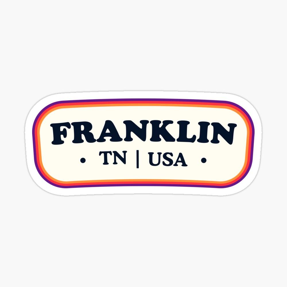 Franklin | Retro Badge Sticker