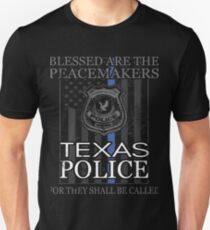 Texas Police Support Dallas Police Department Police Gifts T-Shirt