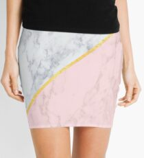Marble/gold/pink Mini Skirt