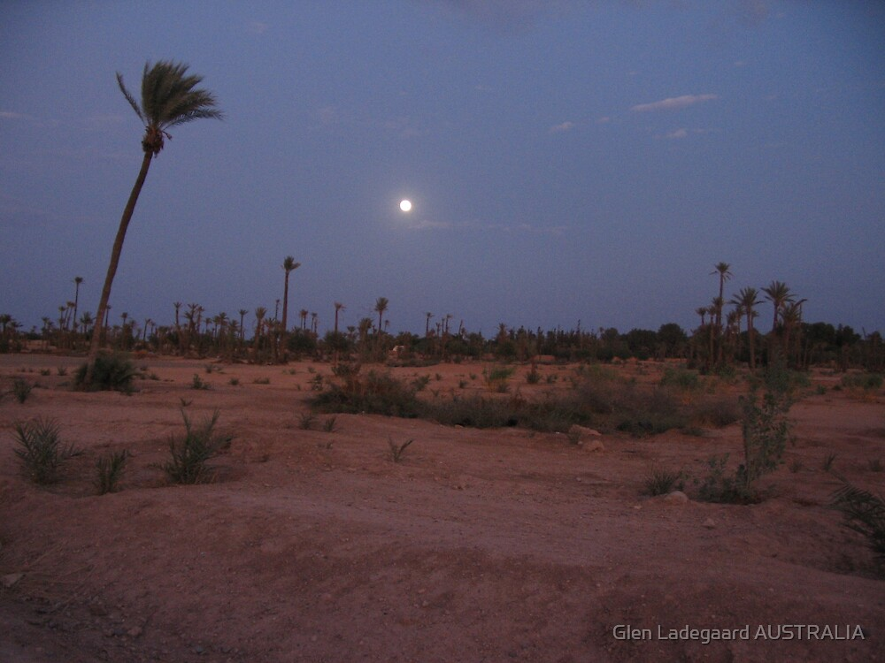 Morocco full moon by Glen Ladegaard AUSTRALIA