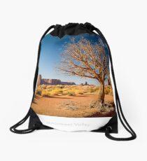 Golden hour at Monument Valley Drawstring Bag
