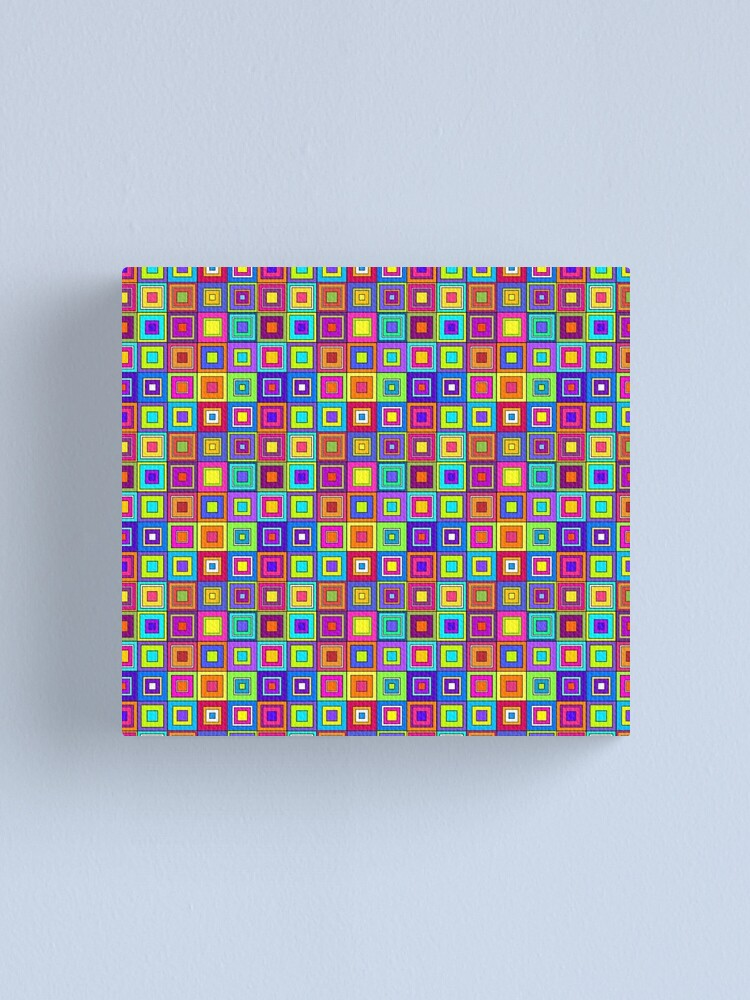 Alternate view of Modern Retro Squares Canvas Print