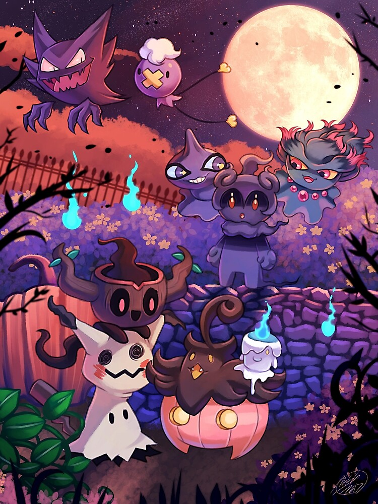 ghost pokemon halloween by mad maddie redbubble