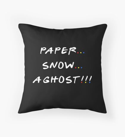 Paper... Snow... A ghost!!! Throw Pillow