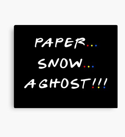 Paper... Snow... A ghost!!! Canvas Print