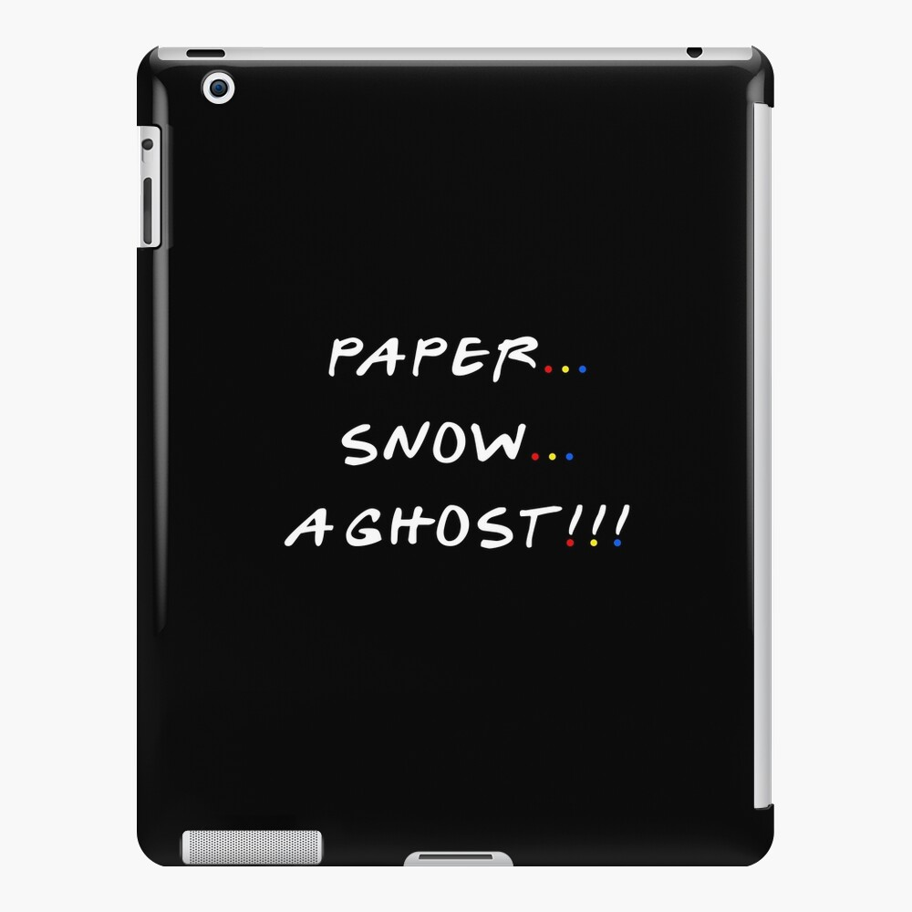Paper... Snow... A ghost!!! iPad Case & Skin