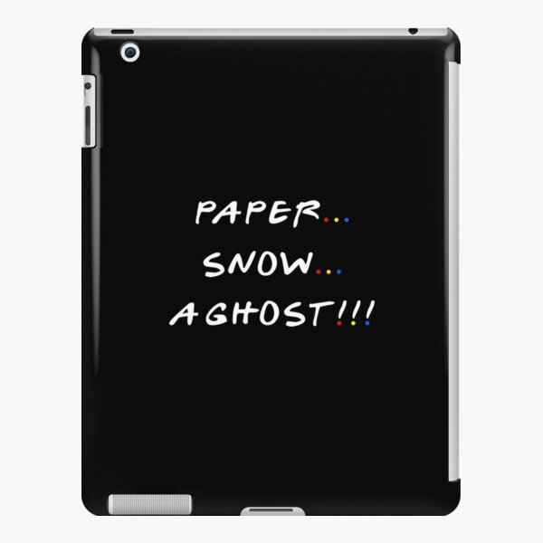 Paper... Snow... A ghost!!! iPad Snap Case