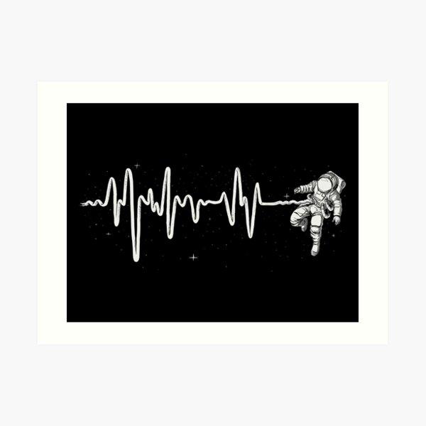 Space Heartbeat Art Print