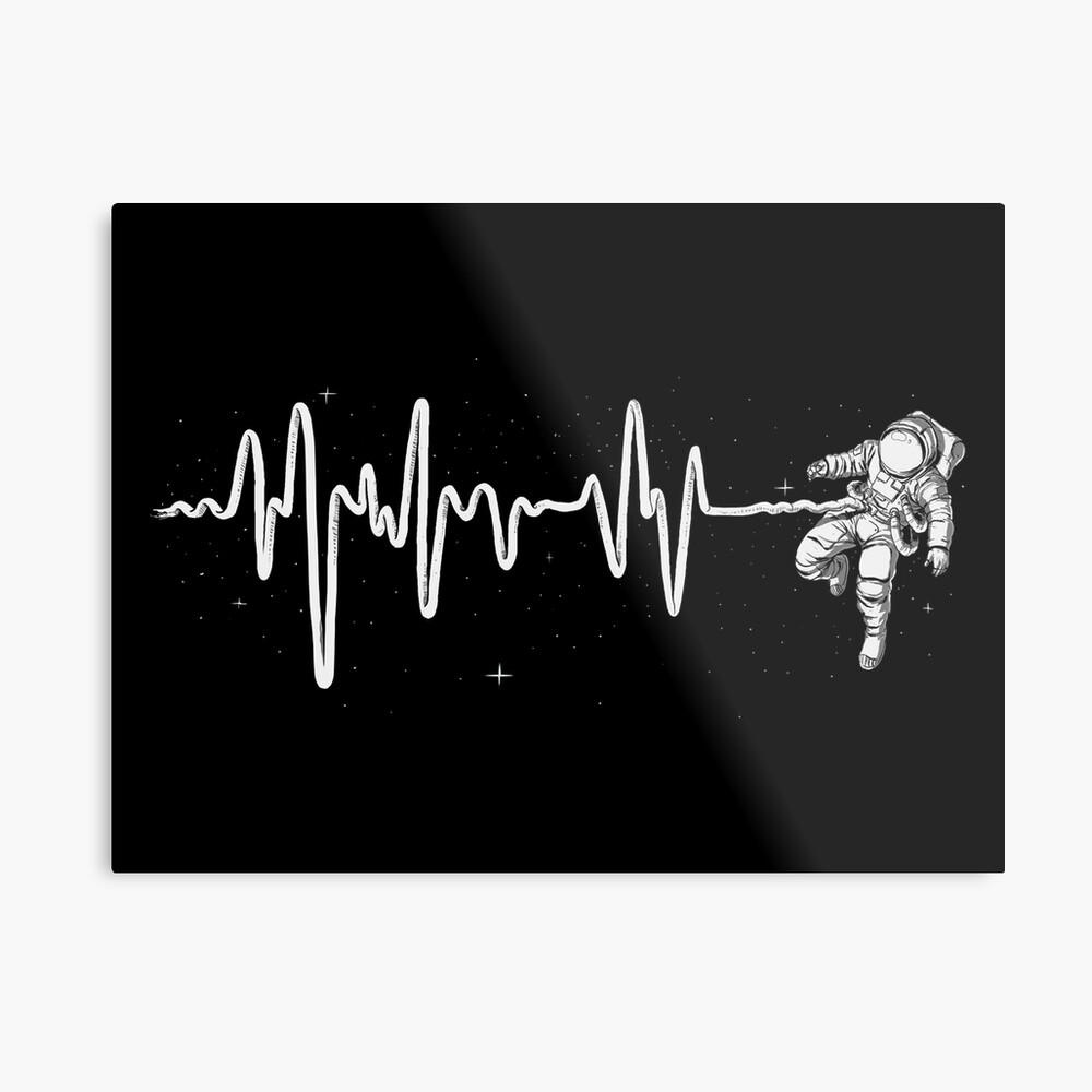 Latido del corazón del espacio Lámina metálica