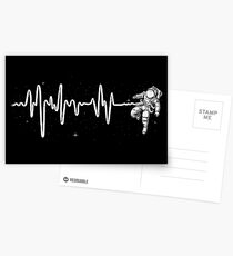 Space Heartbeat Greeting Card