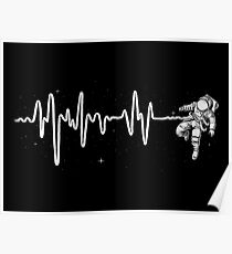 Space Heartbeat Poster