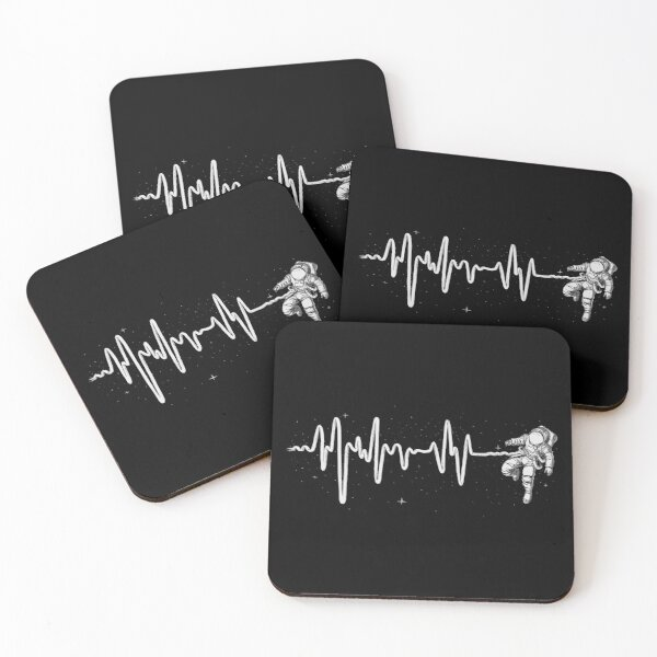 Space Heartbeat Coasters (Set of 4)