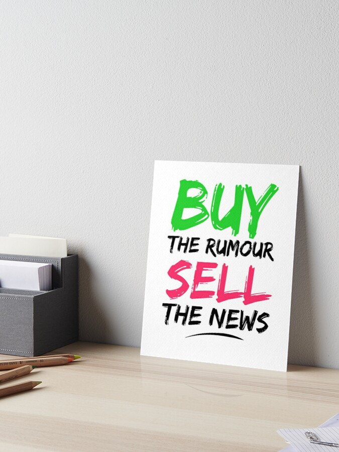 buy the rumor sell the news cryptocurrency