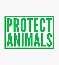 protect animals Photographic Print
