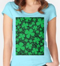 A Shamrock Field for St Patrick's Day Women's Fitted Scoop T-Shirt