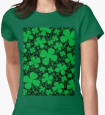 A Shamrock Field for St Patrick's Day Women's Fitted T-Shirt