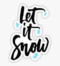 Let It Snow Pegatina