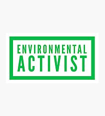 environmental activist Photographic Print