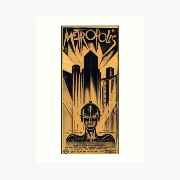 Metropolis - Fritz Lang, movie Art Print