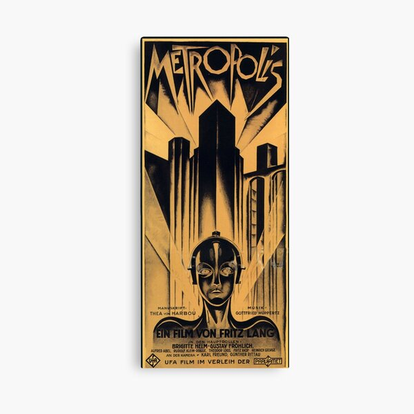 Metropolis - Fritz Lang, movie Canvas Print