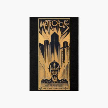 Metropolis - Fritz Lang, movie Art Board Print