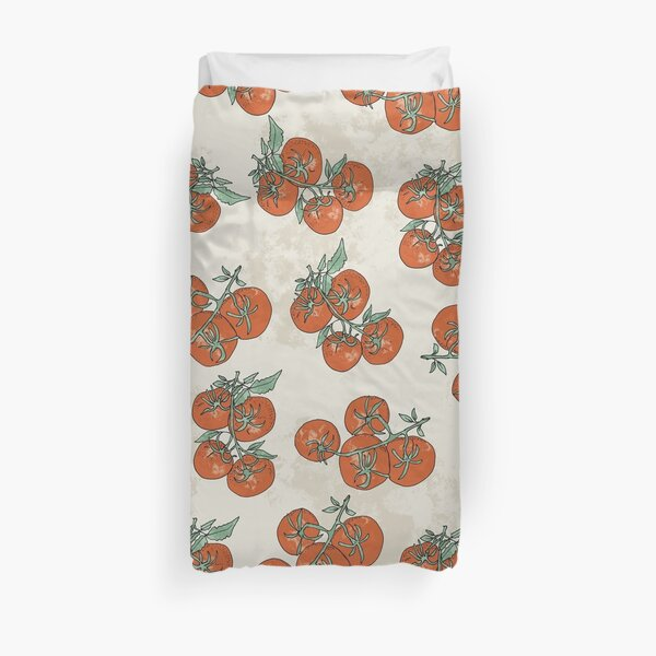 Mediterranean Tomato Pattern Duvet Cover