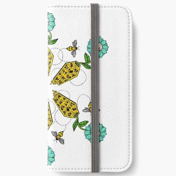 Honeycomb Coffin - Flower Pattern iPhone Wallet