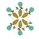 Honeycomb Coffin - Flower Pattern by LeftHandedLenya