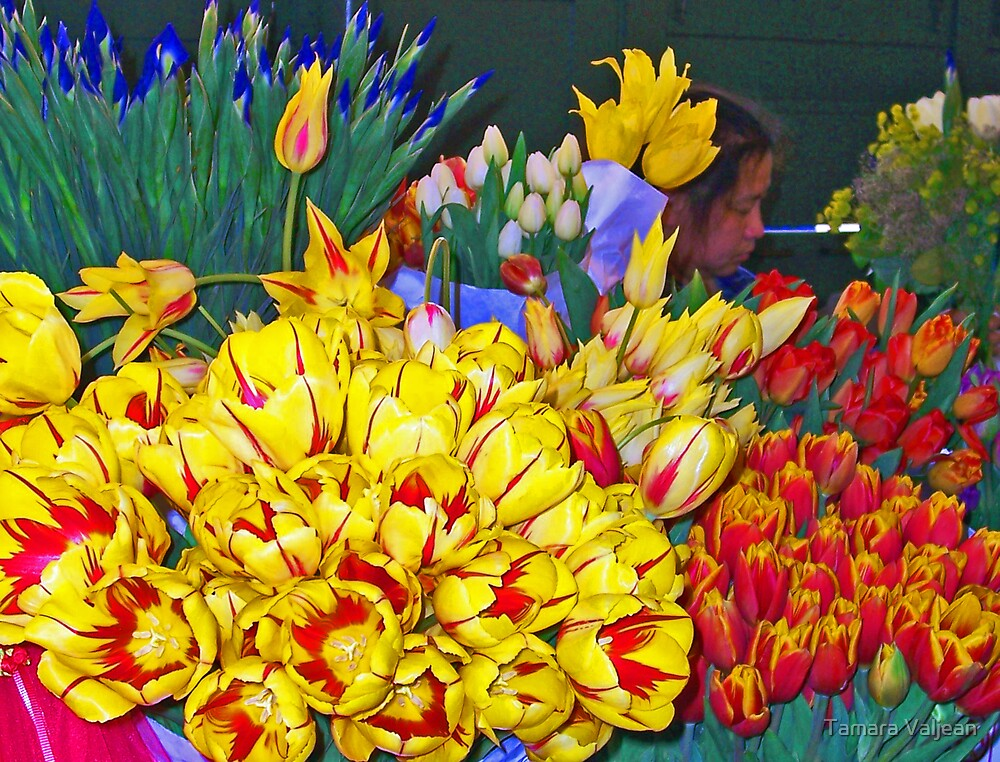 Pike Place Tulips by Tamara Valjean