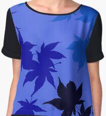 Blue Maple leaves Women's Chiffon Top