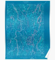 Maine USGS Historical Map Livermore 807556 1912 62500 Inversion Poster