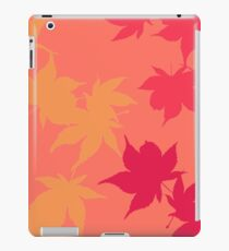 Pink Autumn Maple leaves iPad Case/Skin
