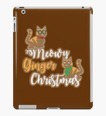 Meowy Ginger Christmas iPad Case/Skin