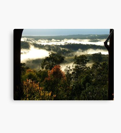 """Sunshine & Mist"" Canvas Print"